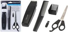 Battery Operated Hair Clipper Set 5 Piece Hair Trimmer Comb Scissors Clippers