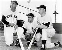 Williams Mantle Berra Photo 8X10 - Yankees Red Sox  Buy Any 2 Get 1 FREE