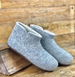 Natural Tova Norwegian Design Gentlemen 100% Merino Wool Men Slippers Boots