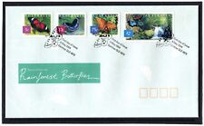 2004 Australia Nature Of Australia Rainforest Butterflies Set Of 4 FDC, VGC