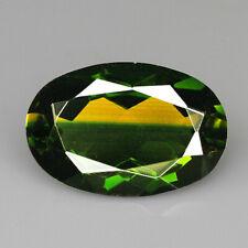 8.65Ct Man Made Bi Color Glass Yellow Green Oval Cut MQYG54