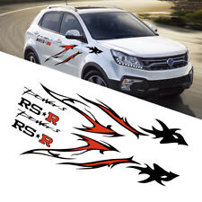 Car Body Styling Flame Dragon Totem Vinyl Film Decal Stickers SUV Car Modified