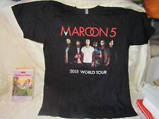 Classic Maroon 5 T-Shirt Black 2015 World Tour! Adult Large Nice!