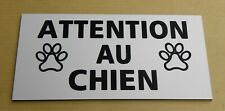 Plate, Sign Attention Au Dog Signs
