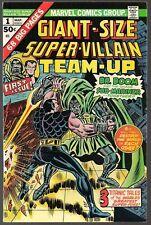 GIANT SIZE SUPER-VILLAIN TEAM-UP #1 MARVEL 1975 DR DOOM & SUB-MARINER 68pgs VFNM