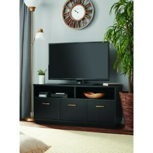 "Mainstays Fireplace TV Stand for TVs up to 65"" - Black Oak (8620335WCOM)"