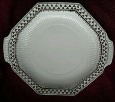 Vintage Adams Ironstone Real English Pottery,retro Hexagon cake plate platter