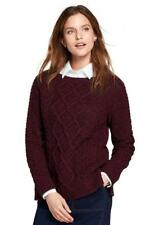 LANDS' END M(10-12) Cozy Aran Cotton/Wool Blend Sweater NWT $70
