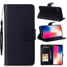 PU Leather Magnetic Flip Stand Card Slot Wallet Case Cover For iPhone Huawei