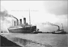 Photo The RMS Titanic In Belfast Lough Heading Out For Sea Trials, April 2, 1912