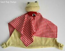 IKEA Fabler Groda Plush FROG Lovey Security Blanket Red Gingham
