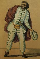 SCAPINO SCAPIN BRIGHELLA - Incisione 1900 Commedia Arte Maschera Mask Masque