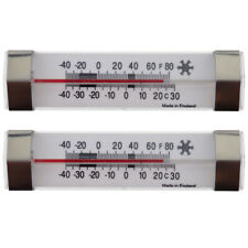 TWO PACK OF FRIDGE FREEZER THERMOMETER WITH STAINLESS STEEL CLIPS - IN-173