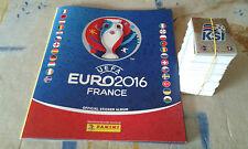 ALBUM COMPLET PANINI EURO 2016 VERSION JAUNE BELGIUM + 16 STICKERS COCA COLA