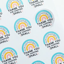 Eco Friendly Thank You Shopping Small Rainbow Stickers Business Labels Packaging