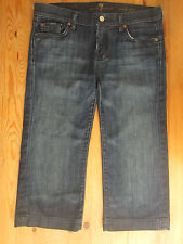 7 Seven For All Mankind Jeans SFAM Womens Cropped Capri Dojo Made in USA 32 X 20