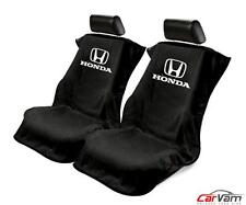 Seat Armour -Black Towel Seat Covers for Honda -Pair