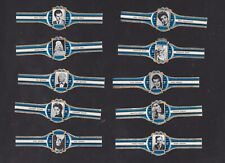 Série 10 Bagues de Cigare Vitola BN106932 Vedettes de Cinéma Brigitte Bardot
