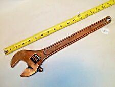 "BERYLCO 15"" W156 Beryllium Copper Non Spark Adjustable Wrench, USA"