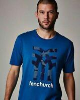 "New Men's Fenchurch Teal Logo Crew Neck T-Shirt Size: 1XL 48-50"" Chest"