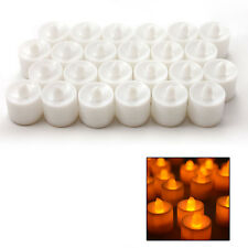 24Pcs Flameless Flickering LED Candles Tea Light Battery Operated - Warm White