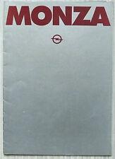 OPEL MONZA Car Sales Brochure Oct 1978