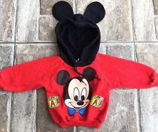 Vintage Mickey Mouse Baby Hoodie Sweatshirt 6 Months Mickey Ears Hooded Jacket