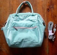 Stunning New LEKE BABY Convertible Baby Nappy Changing Bag Mint Green