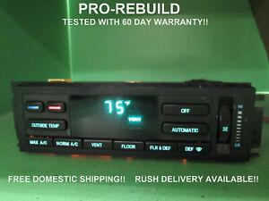 95 TOWN CAR EATC AUTOMATIC CLIMATE HEATER CONTROL P1F5VH-19C933-AF REBUILT 4842