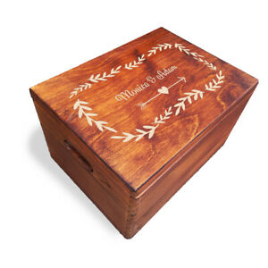 Wooden Large Engraved Personalised Anniversary / Valentine's Day, Painted (LWB1)