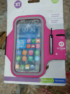 """TONE FITNESS PINK ARMBAND PHONE HOLDER - FITS UPTO 5"""" SCREEN BRAND NEW"""