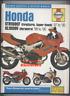 Honda Firestorm Varadero (97-00) Haynes Service Manual Book VTR XL 1000 V F BL42
