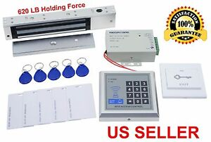 620 LBs Electric Door Lock Magnetic Access Control KIT ID Card Password System 7