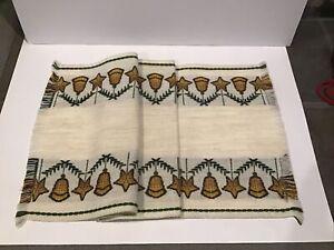 Vtg Aredo West Germany Glocken Bell Star Christmas Poly Textile Table Runner