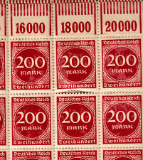 Briefmarken Deutsches Reich Michel 269  1 Bogen komplett 100 Stk ** <<<<<<<<<<<<