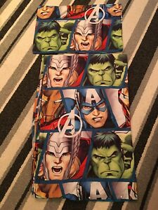 Avengers Single Bedding Set, Matching Curtains & Square Rug