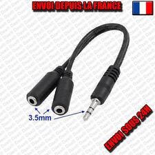 Adaptateur Câble Y Audio Stéréo Doubleur Jack 3.5mm