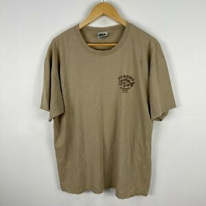 Old Guys Rule Mens T-Shirt Size XL Brown Short Sleeve Bigmouth Beer 15.28