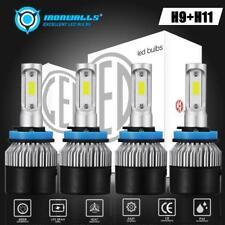 2set H9 H11 High+Low Beam / Low + Fog Light Combo LED Headlight Conversion Kit