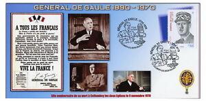 Enveloppe premier jour 80e anniversaire de la mort du général DE GAULLE