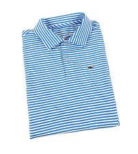 Vineyard Vines Performance Boys Polo Shirt Size M 12 - 14 Blue Striped