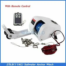 Boat Anchor Winch Electric Marine Saltwater With Wireless Remote Control Kit