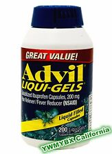 Advil Liqui-Gels 200mg/ 200 Capsules, Pain Reliever/Fever Reducer, #(GREEN)