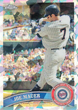 2011 Topps Chrome #80 Joe Mauer Atomic Refractor Numbered 46/225 (Twins)