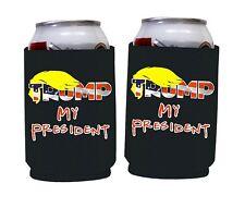 Trump - My President (Set of 2), Black Foam Can cooler, President Trump Support