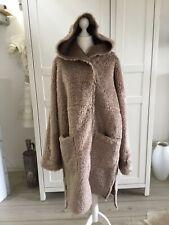 Luisa Cerano Teddymantel Fake Fur Gr. 38 Beige Braun