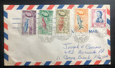 1964 Turks Island Airmail Cover To Cocoa Beach FL Usa Fish Stamp
