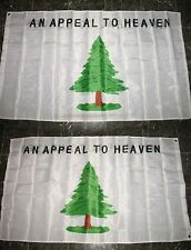 3x5 An Appeal To Heaven #2 2 Faced 2-ply Wind Resistant Flag 3x5ft Nylon