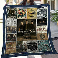 Supernatural 15 Seasons  Blanket Quilt blanket, Fleece Blanket