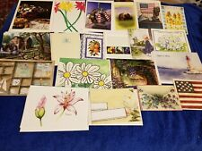 20 Assorted Greeting Note Cards with Various Designs Blank Inside